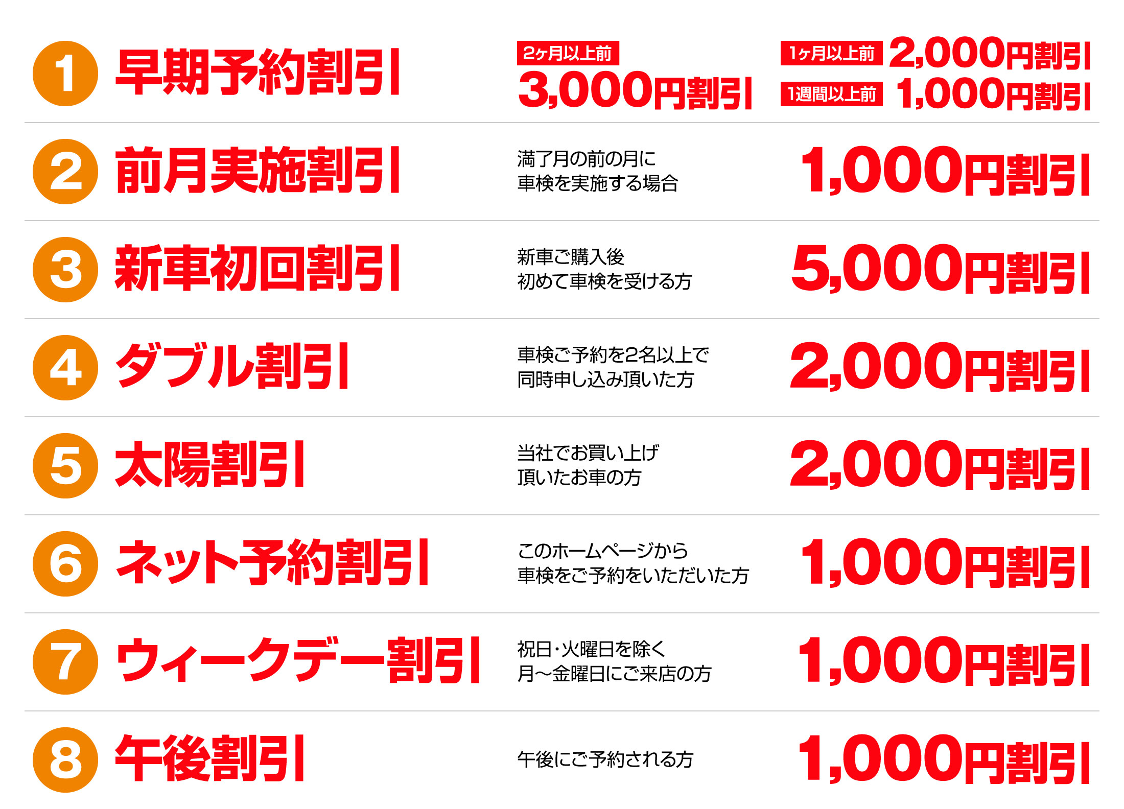 インターネットから予約すると最大16,000円割引